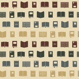 Seamless background with books Royalty Free Stock Photos