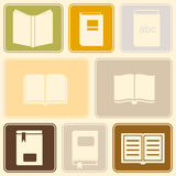 Seamless background with books Royalty Free Stock Images