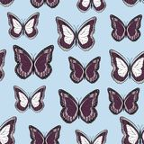 Seamless background from bright butterflies. royalty free illustration