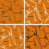 Seamless Background with Bright Carrot Pattern Stock Images