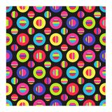 Seamless background of bright circles and strips. vector illustration