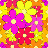 Seamless background with bright flowers. Cute summer colorful seamless background with bright flowers Stock Images