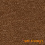 Seamless background of brown leather texture Stock Photos