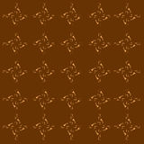 Seamless background of brown pattern with classy design Stock Photo