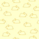 Seamless background with bunnies Stock Images