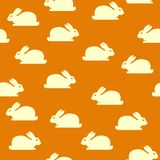 Seamless background with bunnies Royalty Free Stock Photography