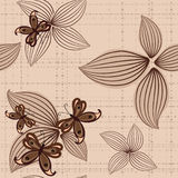 Seamless background with butterflies Royalty Free Stock Images