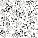 Seamless background with butterflies. Royalty Free Stock Photos