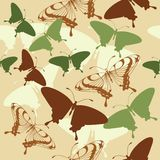 Seamless background with butterflies Royalty Free Stock Photos