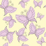 Seamless background with butterflies Stock Images