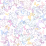 Seamless background with butterflies Stock Photography