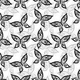 Seamless background, butterflies contours Stock Photo