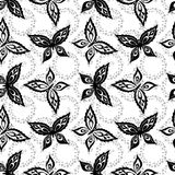 Seamless background, butterflies contours Stock Photo