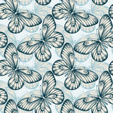 Seamless background with butterflies Royalty Free Stock Photography