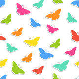 Seamless background with butterflies Stock Photos