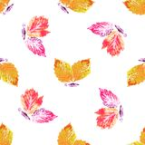 Seamless background, butterflies, painting Royalty Free Stock Image