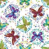 Seamless background, butterflies Stock Photo