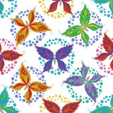 Seamless background, butterflies Royalty Free Stock Photo