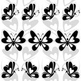 Seamless background, butterflies silhouettes Royalty Free Stock Photography