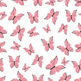 Seamless background with butterflies Royalty Free Stock Image