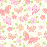 Seamless  background with butterfly. Colorful illustration Stock Image