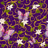 Seamless background butterfly  flower Royalty Free Stock Photography