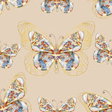 Seamless background with butterfly. Stock Images