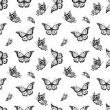 Seamless background with butterflyes Royalty Free Stock Photo