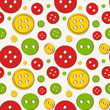 Seamless background with buttons. Vector illustration. Stock Photo