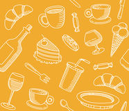 Seamless background that a cafe theme Royalty Free Stock Photo
