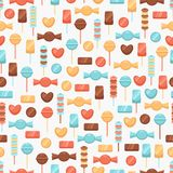 Seamless background with candies Royalty Free Stock Photos