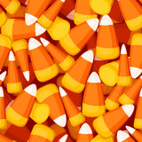 Seamless background with candy corn. Stock Image