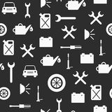 Seamless background on car repair theme Royalty Free Stock Images