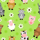 Seamless background card with animals Royalty Free Stock Photography