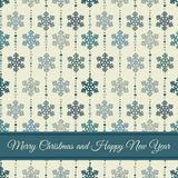 Seamless background and card for Christmas Royalty Free Stock Photography