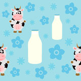 Seamless background card with cow Royalty Free Stock Image