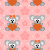 Seamless background card with koalas Royalty Free Stock Photo