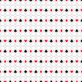 Seamless background of card suits, hearts, spades, clubs, diamonds. For textiles, interior design, for book design, website background Stock Images