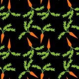 Seamless background with carrots Royalty Free Stock Photography