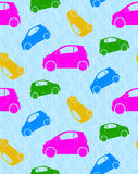 Seamless background with cars. Beautiful seamless pattern with colorful cars. There is an option in the Stock Photo