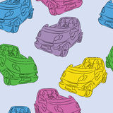 Seamless background with cars. Royalty Free Stock Photos