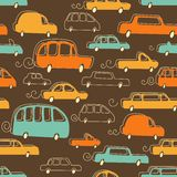 Seamless background with cars Royalty Free Stock Photos