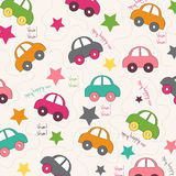 Seamless background with cars Royalty Free Stock Image