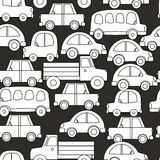 Seamless background of cars stock illustration