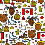 Seamless background with cartoon hand drawn Royalty Free Stock Images