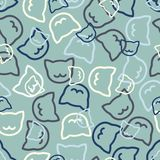 Seamless background: cat Stock Photos