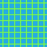 Seamless background with cell, lattice, intersecting lines Bright green stripes on blue background. Seamless background with cell, lattice, intersecting lines vector illustration