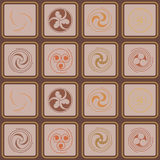 Seamless background with Celtic geometric ornament. For your design stock illustration