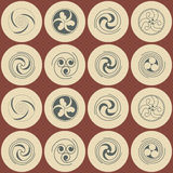 Seamless background with Celtic geometric ornament Stock Images