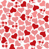 Seamless background of check hearts Royalty Free Stock Photography